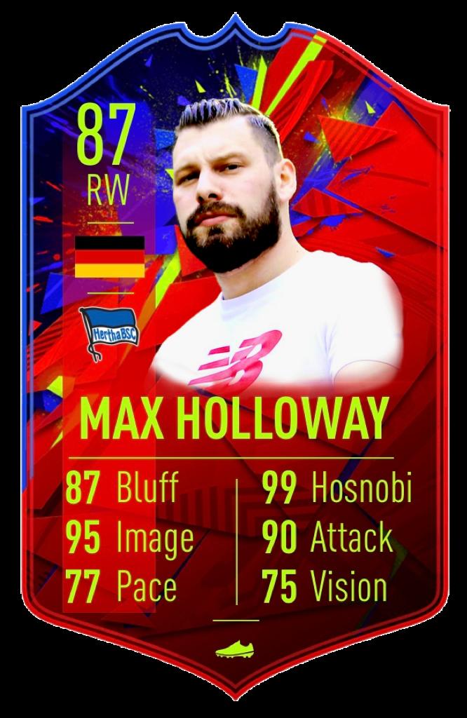 Max Holloway: Recordbreaker: Max Holloway wurde trotz seiner schlechtesten Saison seit 20 Jahren Vierter der Weltrangliste! Seine Leistung am 10. Spieltag ist in die Geschichtsbücher eingegangen. Einen Super-Hosnobi auf der Hand und drei Hosnobi in Folge, das ist ein Rekord für die Ewigkeit!