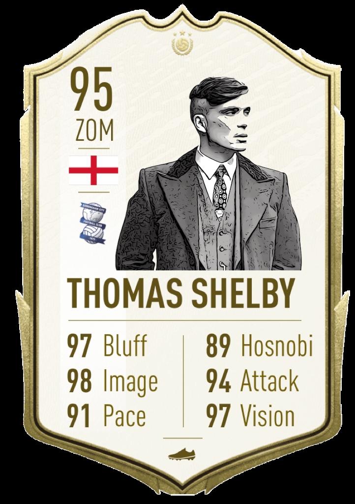 Tomas Shelby: Spieler des 20. Jahrhundert: Thomas Shelby wurde offiziell als bester Spieler des 20. Jahrhunderts gewählt. Es wird wohl nie wieder einen Spieler wie ihn geben.